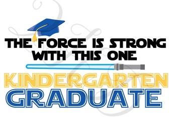 Kindergarten Grad Star Wars Iron On - Digital Download - You Print