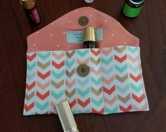 FREE SHIPPING!-E O Purse Carrier-Lipstick Storage-E O Handbag Insert-Holds Three EO Bottles-Small Oils Travel Storage-Gift For Her
