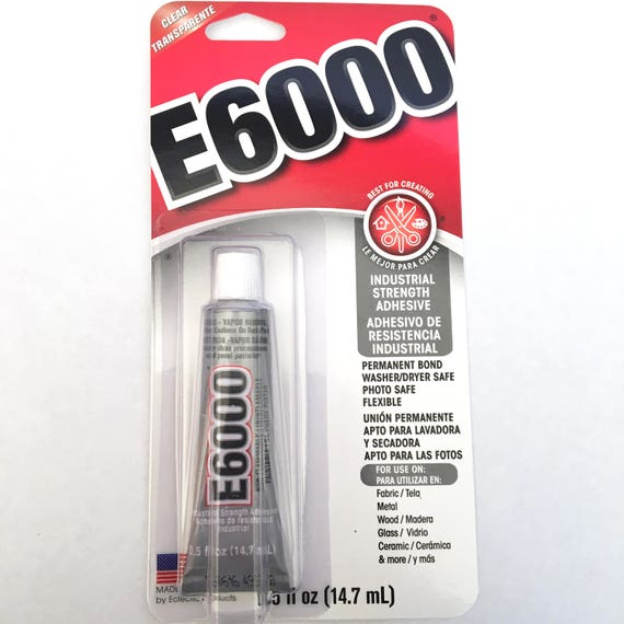 E6000 - Fabric Glue - 29.5 ml - Clear strong - costume glue - rhinestone adhesive - gems jewel bond - multipurpose - permanent - washable from ...  sc 1 st  Etsy Studio & E6000 - Fabric Glue - 29.5 ml - Clear strong - costume glue ...