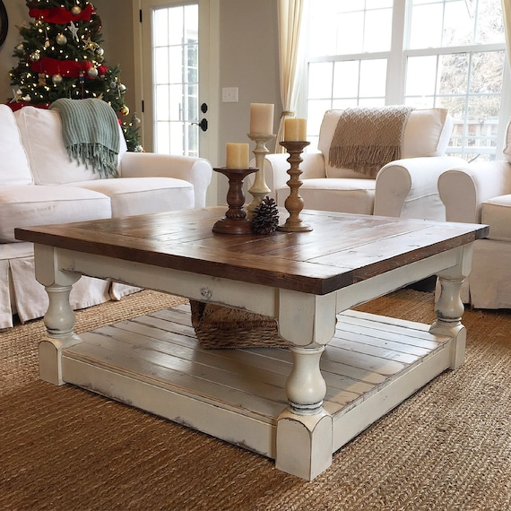 Antique White Harvest Coffee Table