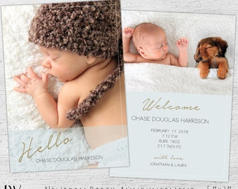 newborn announcement template - Gecce.tackletarts.co