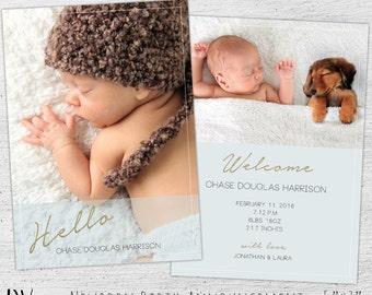 newborn announcement template