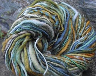 Handspun yarn, handpainted thick and thin yarn, soft wool, worsted yarn-EUPHROSYNE