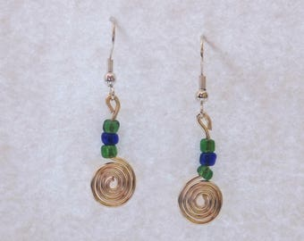 Handmade Spiral Earrings