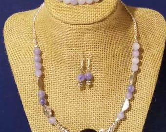 Purple Necklace with Amethyst Pendant