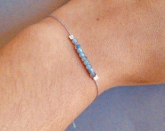 Petite glass bead Bracelet-Grey