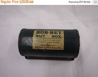 ON SALE Vintage Bob-Bet Bait Box