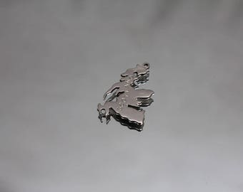 925 - Cutout Vintage Thelma Heinz Scotland Pendant Charm in Sterling Silver
