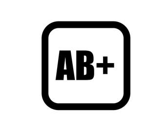 Medical Patch - Blood Type AB POSITIVE - Embroidered