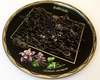 Vintage Colorado Souvenir Tin Tray