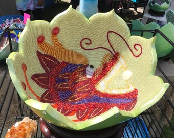 Chinese Dragon Beaded Gourd