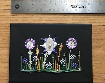 Mini Steampunk Wildflower  Garden