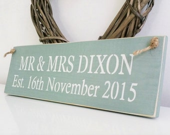 Personalised Wedding sign, Shabby Chic, painted in Annie Sloan