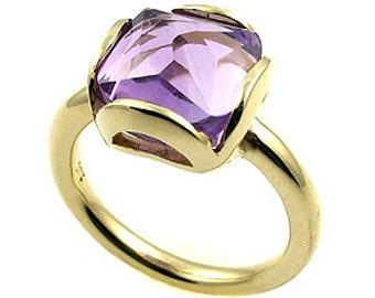Amethyst ring .