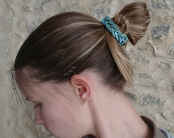 Leather hair jewelry