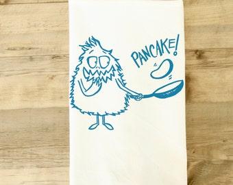 Pancake Tea Towel - pancake dish towel - kitchen towel - Breakfast Lover theme