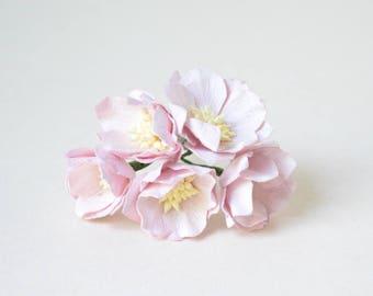 40 mm /  5 lilac paper lotus