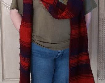 Doctor Who Season 18 Scarf, hand knit