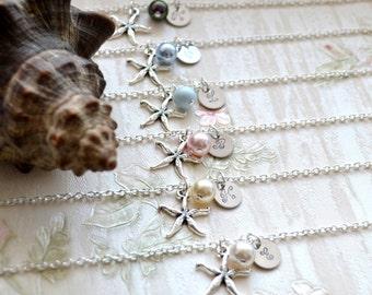 Set of 3 Beach bracelet for bridesmaids WeddingsBoutique Starfish bracelet Bridesmaid gifts Bridesmaid bracelet Wedding Personalized jewelry