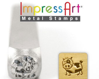 """COW METAL STAMP 6mm 1/4"""" Steel Punch Farm Animal ImpressArt Custom Stamping Jewellery Tool Craft Personalized Jewelry Making Tool"""