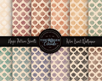 Retro Wallpaper Printable Paper, 70's Paper for your DIY Paper Craft. Paper Craft for Mixed Media & Junk Journal Kits.
