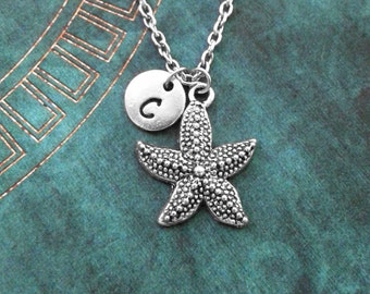 Starfish Necklace Silver Starfish Jewelry Starfish Gift Beach Necklace Beach Jewelry Sea Necklace Ocean Necklace Personalized Jewelry