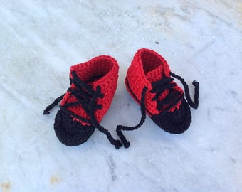 Baby Shoes Red and black