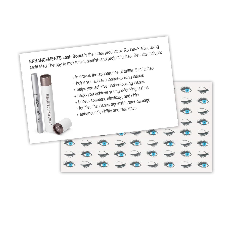 Rodan Fields Lash Boost Business Card Sized Handout 4x6