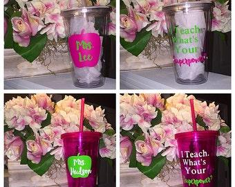 Teacher Tumbler Superpower Cup