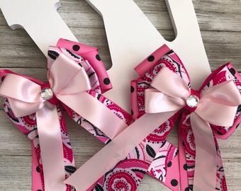 Pretty in Pink - Equestrian Show Bows & Ships FREE!