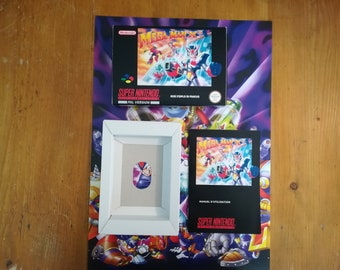 "Complete package ""MEGAMAN X 3"" SNES - french"