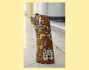 The Tree of Life, The Hug, Gustav Klimt, Klimt Art, Sculpture, Figurine, Miniature, Art object, For my Valentine, Wedding gift idea