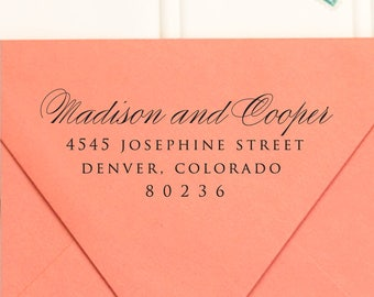 Address Stamp, Return Address Stamp, Self Inking Return Address Stamp, Wedding Return Address Stamp, RSVP Stamp, Calligraphy Stamp - No. 27
