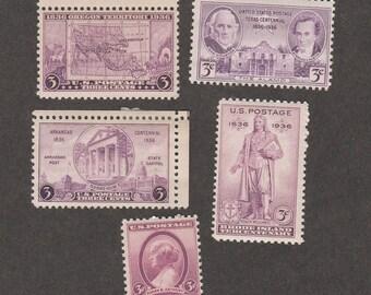 1936 U.S. Commemoratives Susan B. Anthony Oregon Texas Statehood Etc.