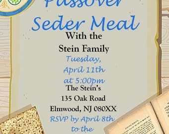 passover seder meal invitation
