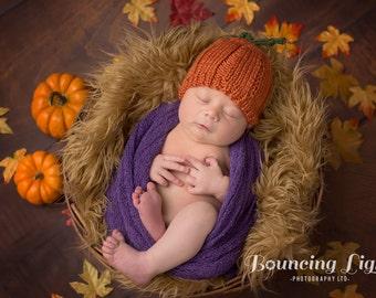 Pumpkin Baby Hat | Thanksgiving Baby Hat / Pumpkin Newborn Hat / Fall Baby Hat / Autumn Baby Hat / Baby Shower Gift / New Baby Gift