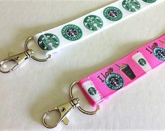 One Starbucks Ribbon Lanyard