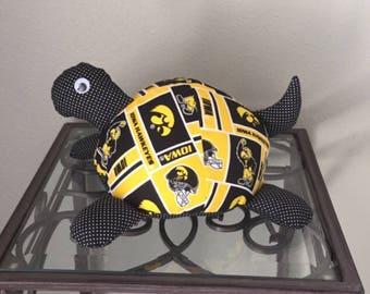 Iowa Hawkeyes Handmade Stuffed Turtle