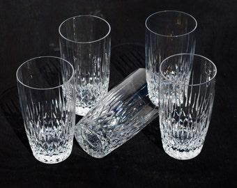 Set of Five Rogaska Vogue Highball Glasses