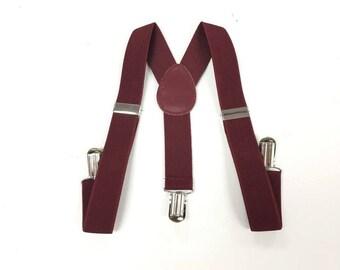 baby boy clothes, burgundy suspenders, kids burgundy suspenders, toddlers suspenders, toddler's burgundy suspenders, burgundy