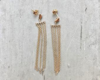 Chain Bar Earrings,Chain Stud Earrings,Multi Chain Earrings Gold,Long Chain Earrings,Gold Stud Earrings,Chain Earrings,Long Earrings Gold