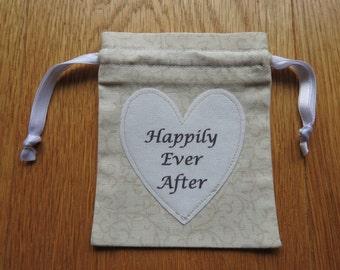 Wedding Ring Bag, Wedding Ring Holder, Ring Holder, Wedding Rings Bag, Wedding Ring Pouch - Dark Cream/Light Beige