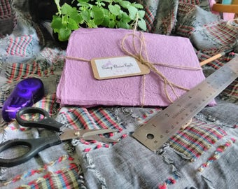 Purple Handmade Recycled Paper Sheets