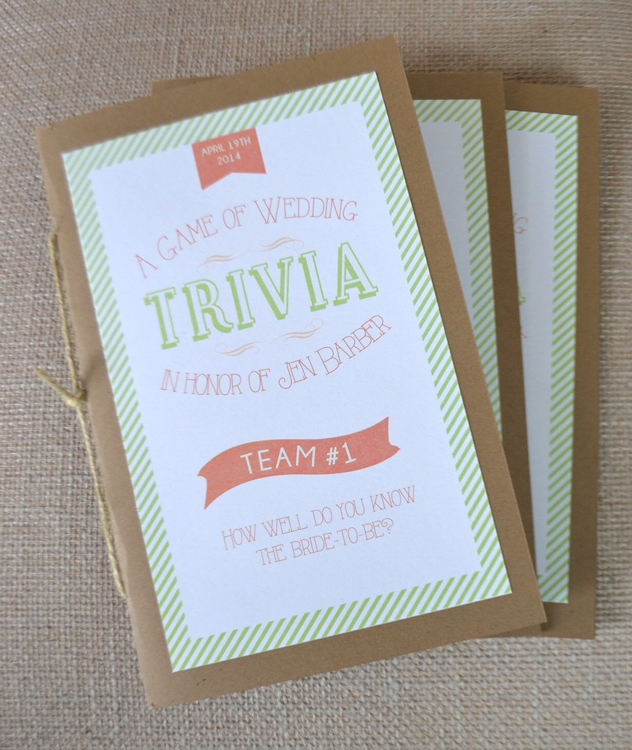 Bride And Groom Trivia Questions: Bridal Shower Game: Trivia Book DIY Printable Shower Game
