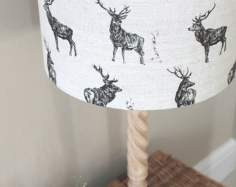 Lamp shades etsy uk stags lamp shade mozeypictures Gallery