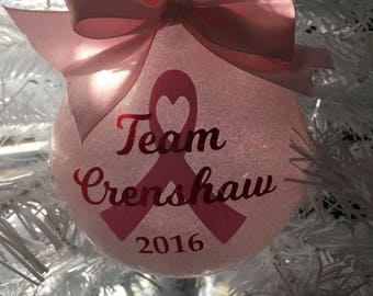 Awareness Ribbon Ornament, custom, Personalized