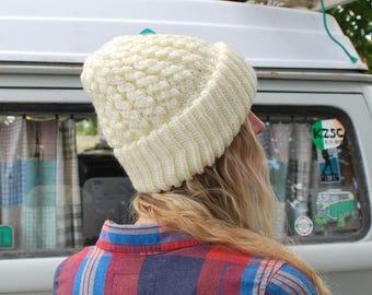 Vintage Women's Chunky Knit Beanie Hat