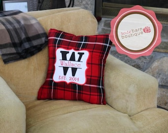 Personalized Name Pillow, Custom Pillow, Embroidered Pillow, Gift for her