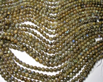 Labradorite - 8 mm beads -1 full strand - 48 beads  - RFG548