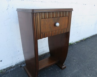 Art Deco Nightstand Side End Table 8893